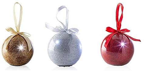 Job lo Christmas Large Glitter Baubles - 30 in a lot