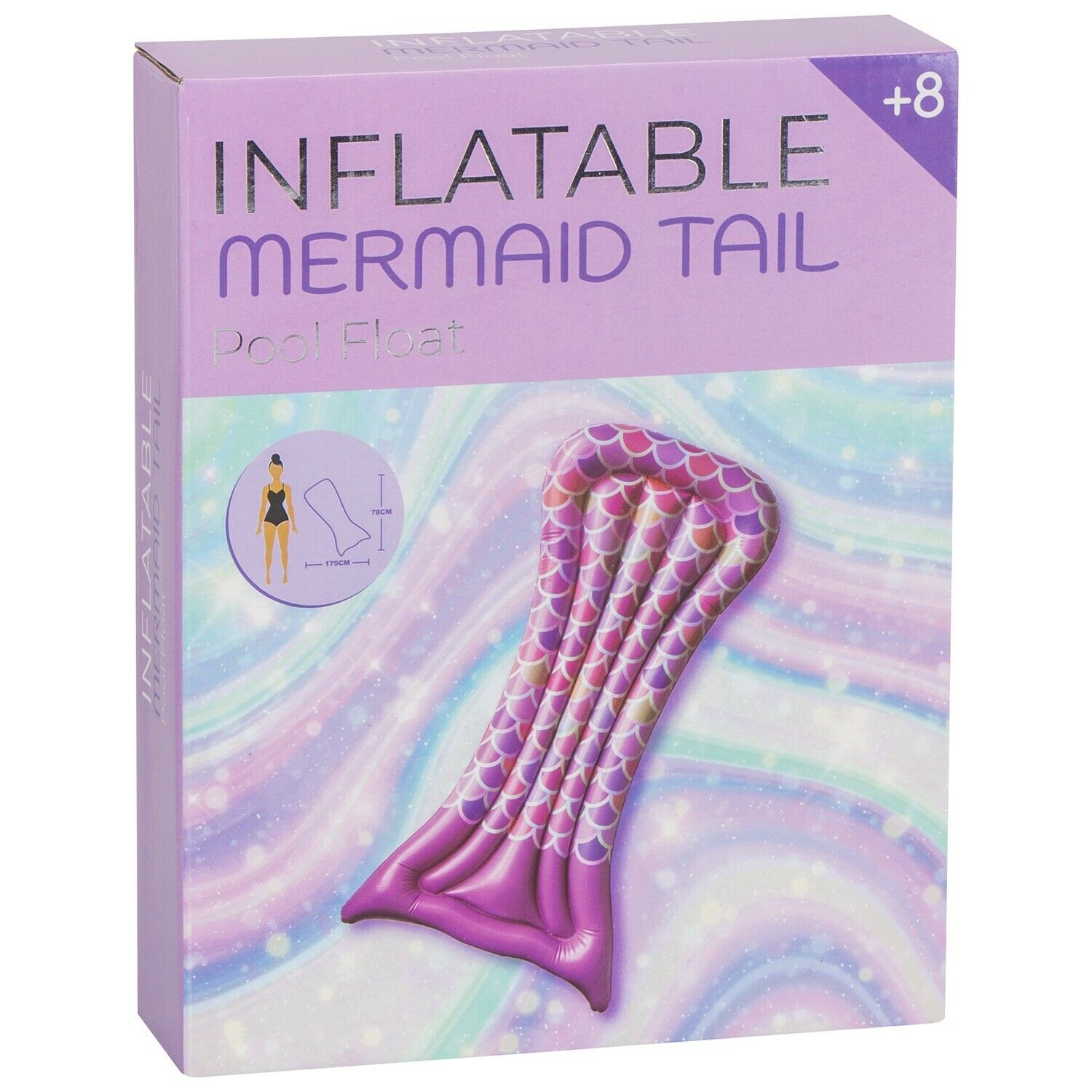 Pink Mermaid Tail Pool Floats - New & Boxed - High Quality - 12 Units Per Lot