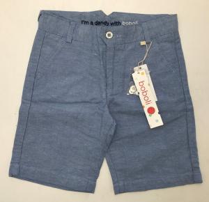One Off Joblot of 9 Boboli Blue Linen Blend Boys Shorts in a Range of Sizes