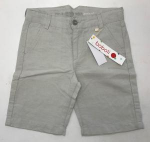 One Off Joblot of 12 Boboli Grey Linen Blend Boys Shorts in a Range of Sizes