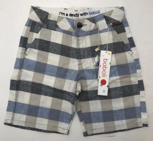 One Off Joblot of 9 Boboli Boys Linen Blend Check Bermuda Shorts 735274