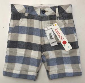 One Off Joblot of 14 Boboli Boys Linen Blend Multi-Check Shorts Sizes 6m-4