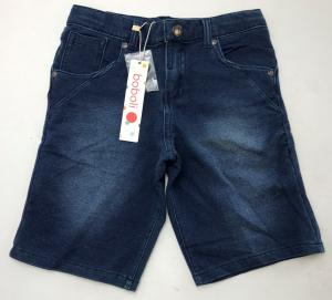 One Off Joblot of 9 Boboli Boys Denim-Effect Shorts in Blue & Black Sizes 8-12