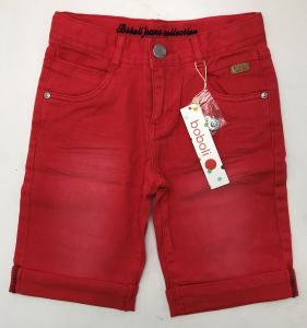 One Off Joblot of 5 Boboli 593018-3536 Boys Red Jean Shorts Sizes 8-12