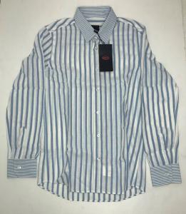 One Off Joblot of 5 Bugatti Boys Blue Striped Linen Blend Shirt Range of Sizes