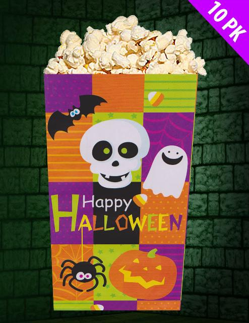 Pack of 24 Halloween Decoration Pack of 10 Paper Party Bags Trick or Treat Loot Bags