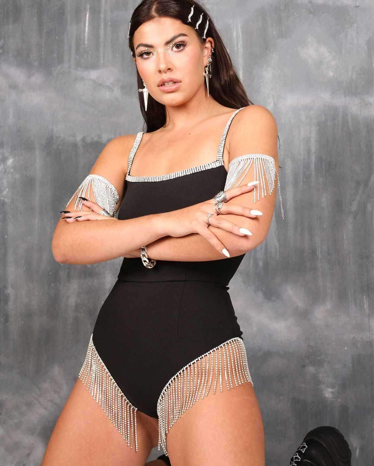 SHRINE Quinn Fringed Bodysuit