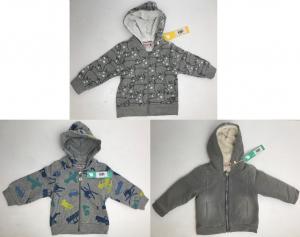 One Off Joblot of 6 Boboli Kids Grey Hoodies in 3 Styles Sizes 6m - 4 Years