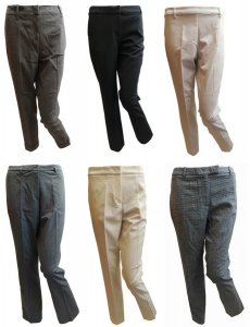Wholesale Joblot of 50 Ladies De-Branded Trousers Assorted Styles
