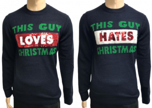 Wholesale Joblot of 10 Mens Ex-Chain Store Loves/Hates Christmas Jumpers
