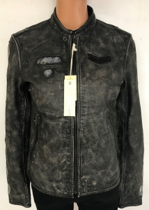 One Off Joblot of 3 Diesel Boys 100% Cowhide Leather Distressed Style Jackets