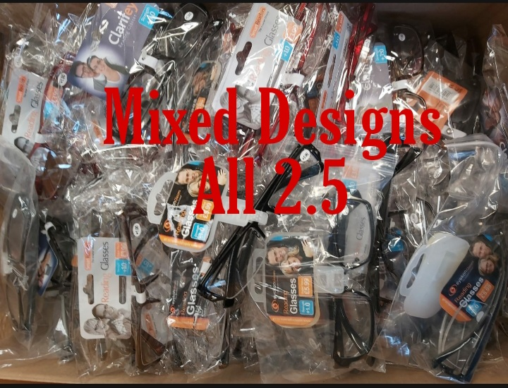 Mixed Design 24 Reading Glasses 2.5 Strength All Brand New Stock!!!!