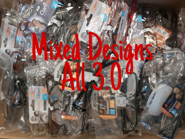 Mixed Designs 24 Reading Glasses 3.0 Strength all New Brand New Stock