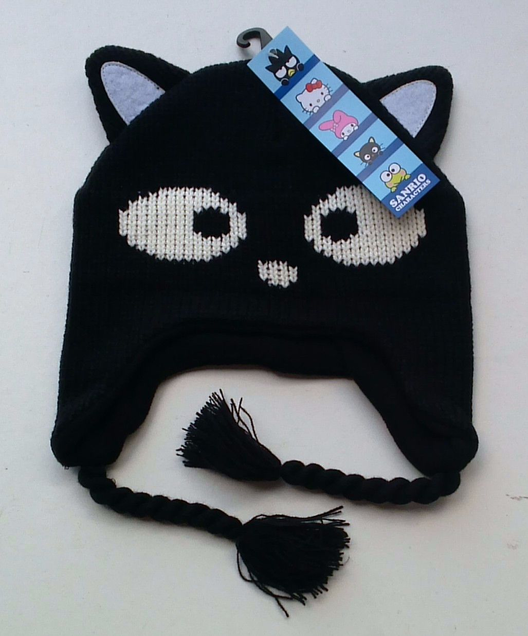 Knitted Black Cat Inca Hat for Girls - 12 Hats Per Lot Purchased