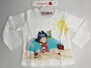 One Off Joblot of 12 Boboli Baby Girls Long Sleeve Pirate Play Time Tops