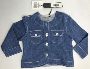 One Off Joblot of 5 JO Milano Kids Blue Chest Pocket Button-Through Top