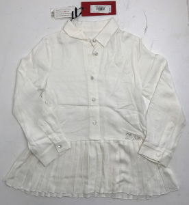 One Off Joblot of 4 Lapin House Girls White Tunic Shirts Sizes 4-12