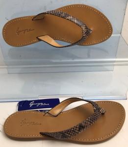 Wholesale Joblot of 10 George Blue Natural Snakeskin Design Strap Tan Sandal