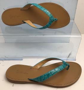 Wholesale Joblot of 10 George Blue Teal Croc Strap Leather Sandal
