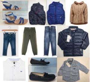 Joblot of 500 Kids Assorted Branded Clothing - Armani, Gant, Diesel & More!