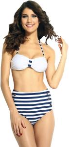 Wholesale Joblot of 10 Ladies Navy/White Stripe Nautical Bikini Set