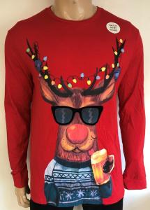 Wholesale Joblot of 10 Mens Ex Chain-Store Drinking Reindeer Christmas Top