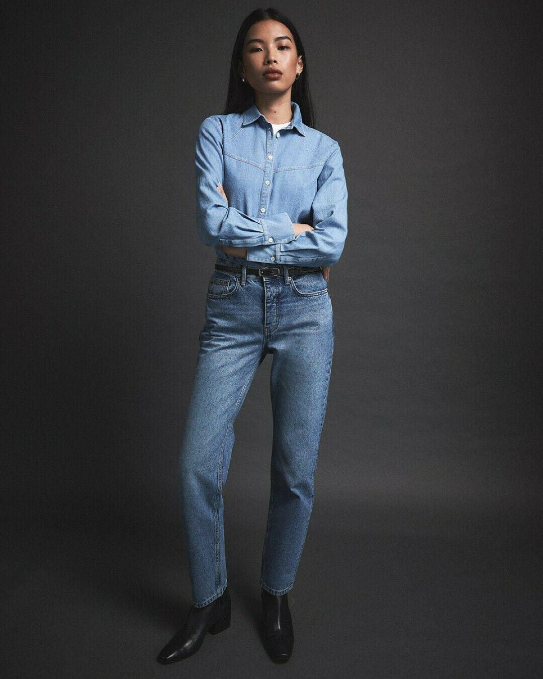 Jigsaw Blenheim Classic Straight Jeans Blue  Current 2020 Range RRP £85