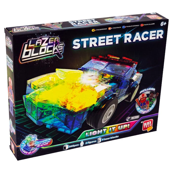 Block Tech Light up Helicopter and Race Car