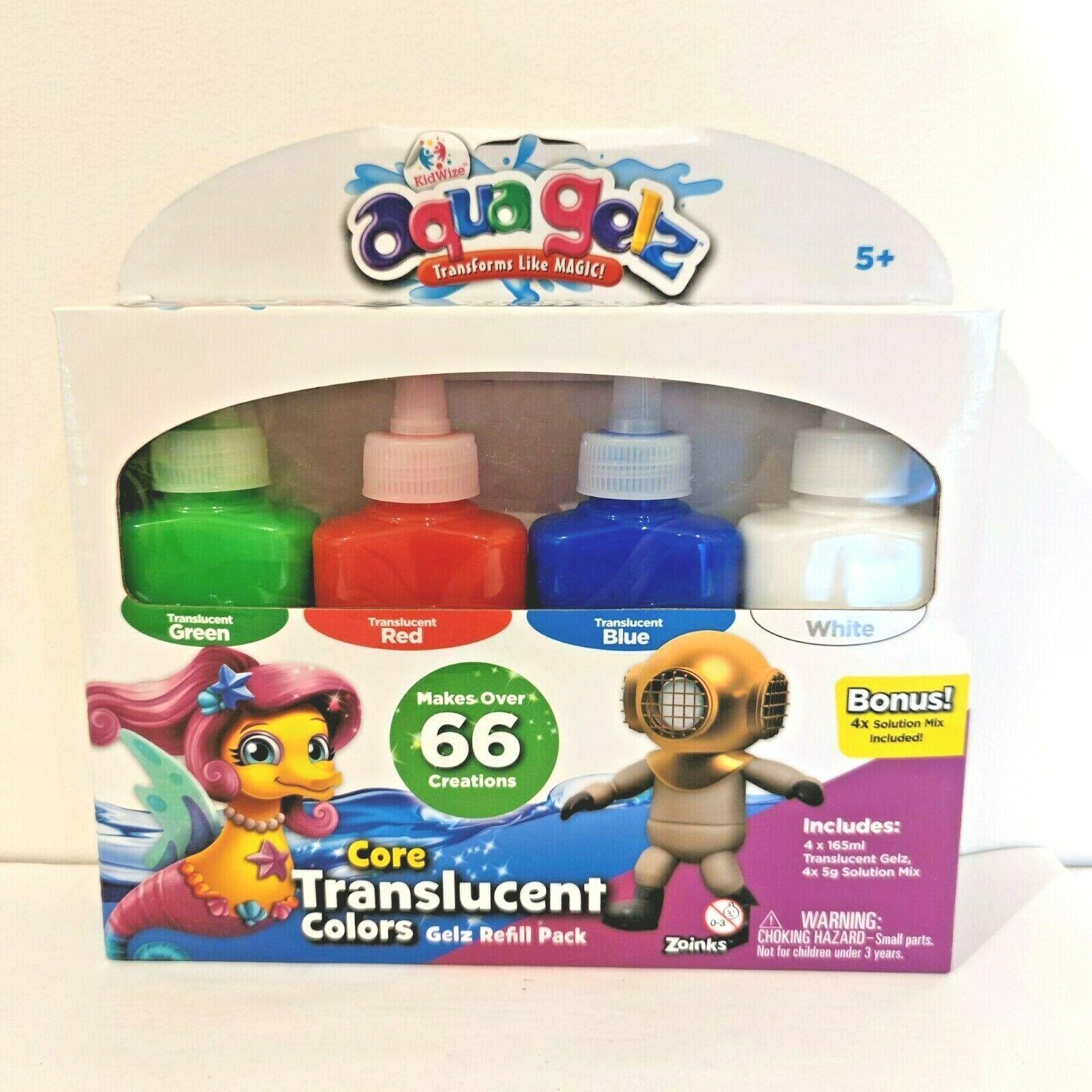 Aqua Gelz Core Translucent Colours Gelz Refill Packs - 9 Units Per Lot