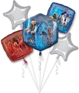Wholesale Joblot of 24 Amscan Disney Star Wars Foil Balloon Bouquet (5 Pack)