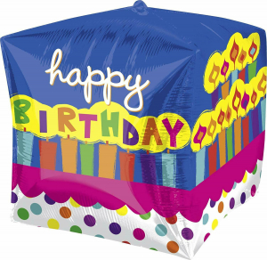 One Off Joblot of 20 Amscan Cubez UltraShape Happy Birthday Foil Balloon 15