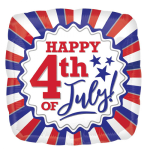 Wholesale Joblot of 60 Amscan Anagram USA Happy 4th of July Foil Balloon 17
