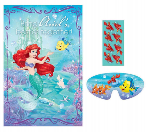 Wholesale Joblot of 50 Amscan Disney Princess Ariel Poster Party Game (10pc)