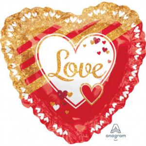 Wholesale Joblot of 20 Amscan Anagram Love Heart Foil Balloon 28