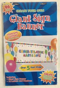 Wholesale Joblot of 24 Amscan Create Your Own Giant Sign Banner Over 5ft