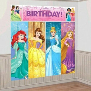 Wholesale Joblot of 20 Amscan Disney Princess Wall Decorating Kit (5pc Set)