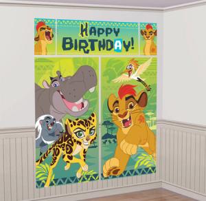 Wholesale Joblot of 20 Amscan Disney The Lion Guard Wall Decorating Kit (5pc)