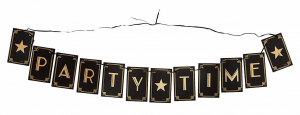 Wholesale Joblot of 24 Amscan Hollywood Party Time Flag Banner 3.65m