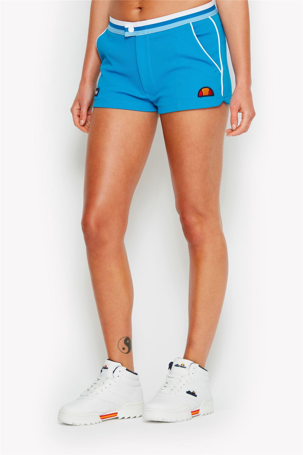 Women Ellesse Jet Retro Shorts Blue x 4 pairs