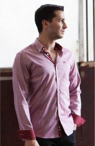 Wholesale Joblot of 10 Freddie Parker Mens Claret Slim Fit Shirt Sizes S-XXL
