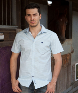 Wholesale Joblot of 10 Freddie Parker Mens Sky Blue Short Sleeve Shirt S-XXL