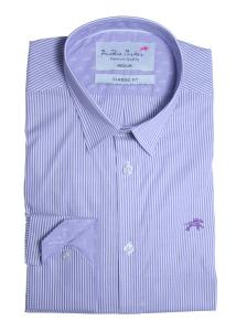 Wholesale Joblot of 10 Freddie Parker Mens Lilac Stripe Classic Fit Shirt S-XXL