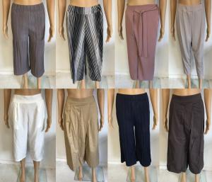 Wholesale Joblot of 5 Yuki Tokyo Ladies 3/4 Length Trousers - Assorted Styles