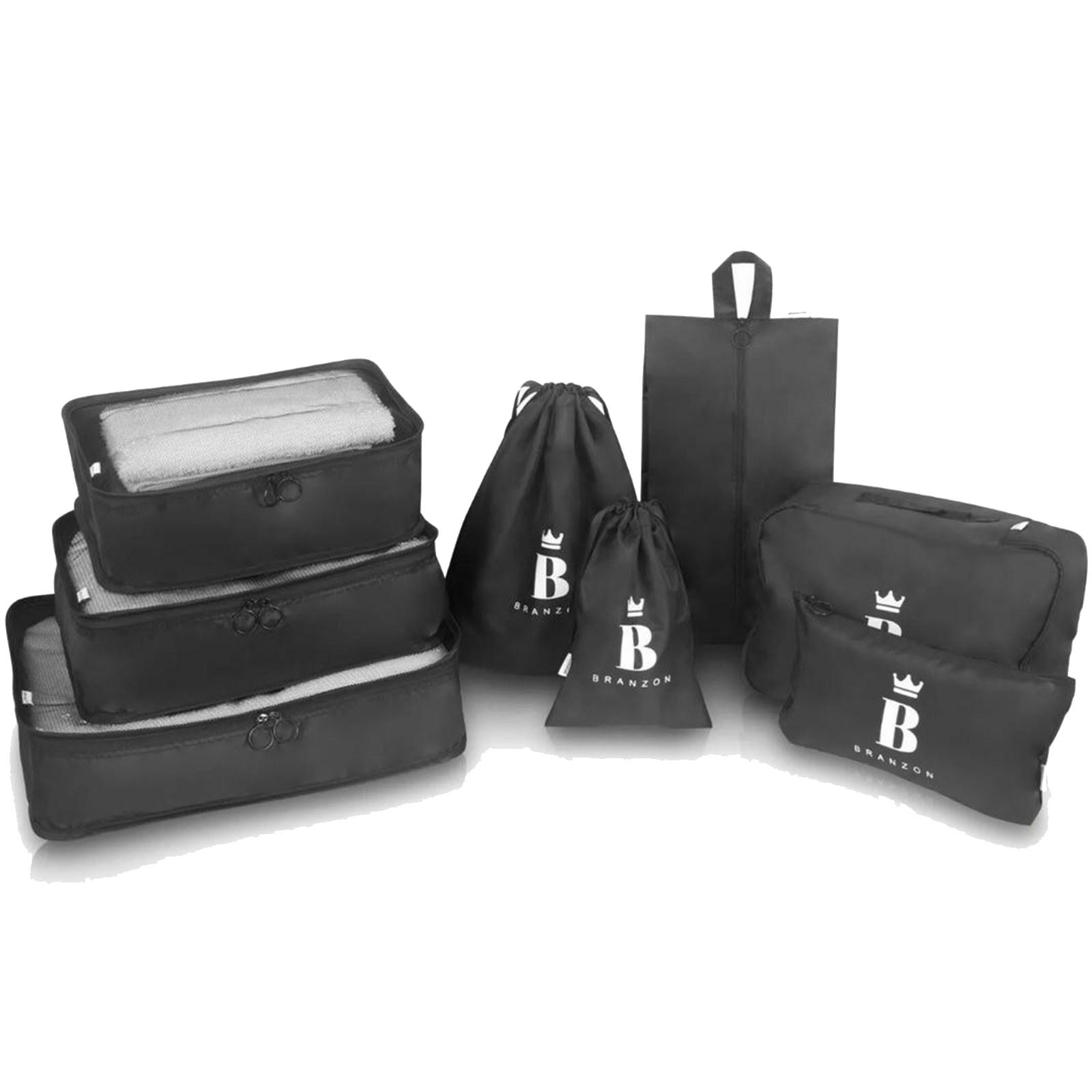 5 Sets x BRANZON 8Pcs High Quality Travel Luggage Organizer Bag Packing Cube Storage