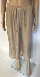 One Off Joblot of 8 Yuki Tokyo Kate Pleated Trouser in Beige Size 8-12