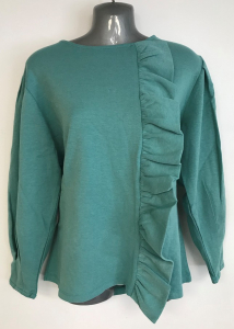 One Off Joblot of 6 Yuki Tokyo Ladies Binky Frill Tops in Teal Size 8-12