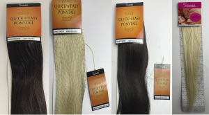 One Off Joblot of 9 Stranded Hair Extensions - Quick n Easy Ponytails