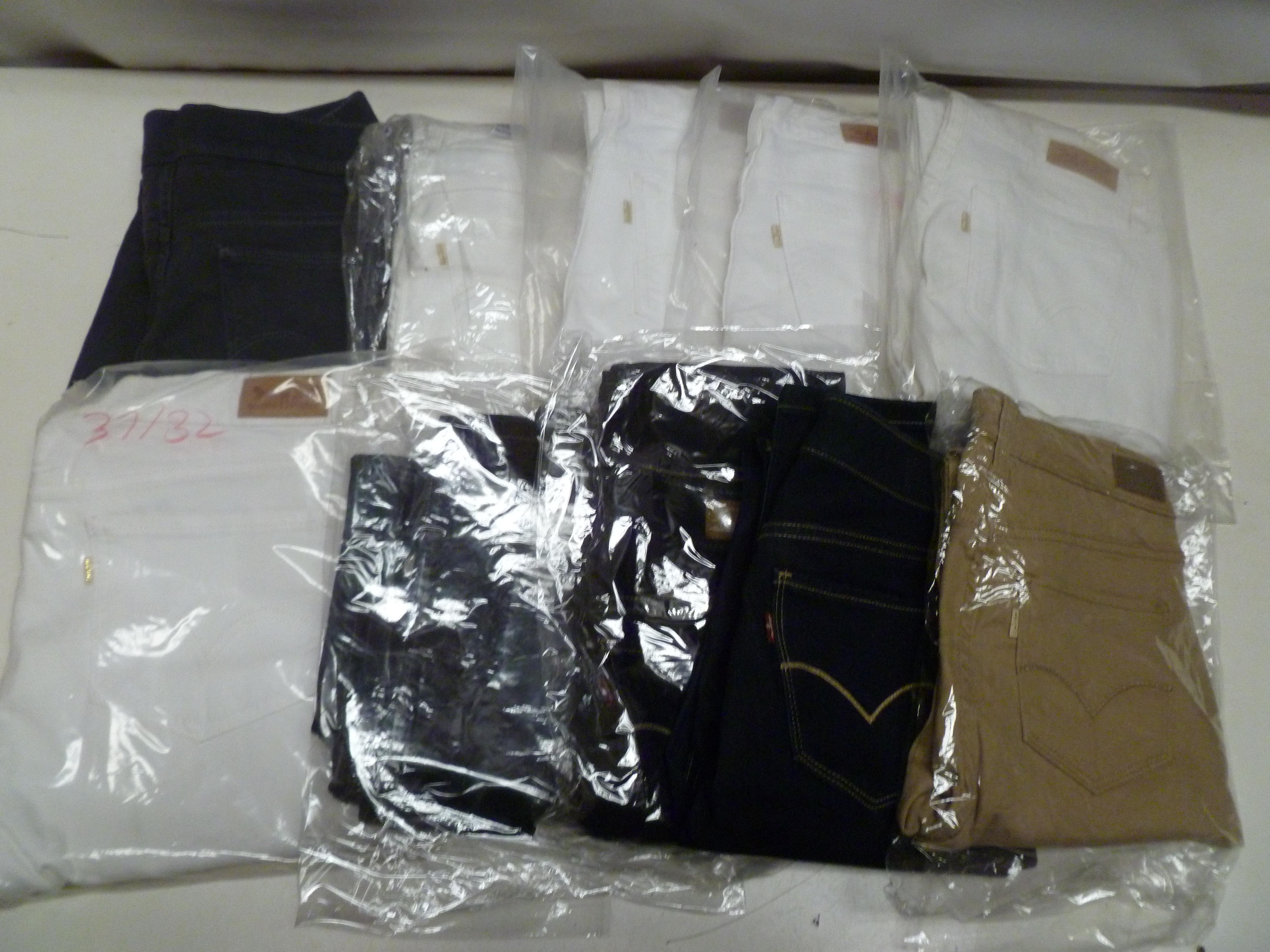 10 x Levi jeans All New ladies jeans mixed sizes all Levis Bulk Job Lot Wholesale Lot 3