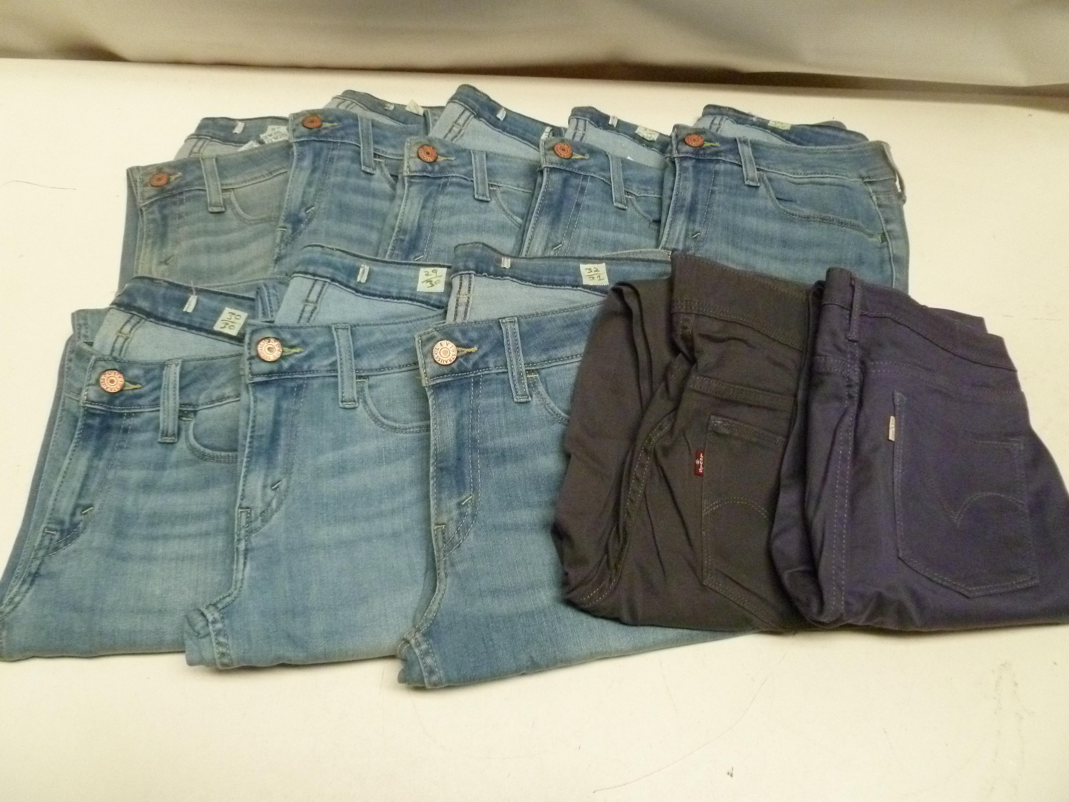 10 x Levi jeans All New ladies jeans mixed sizes all Levis Bulk Job Lot Wholesale Lot 2