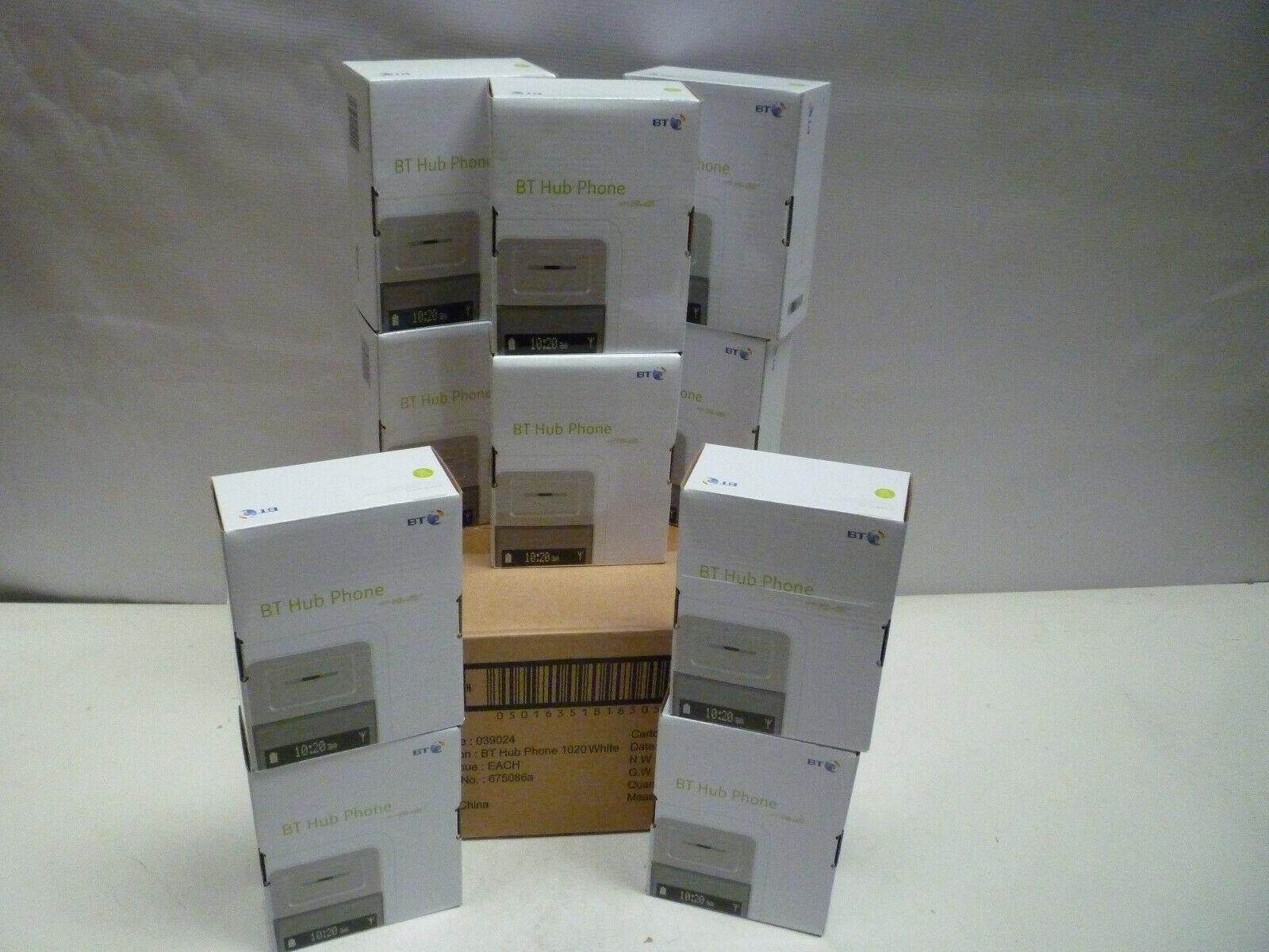 10 x BT Home Hub Phones 1020 Job Lot Bulk Wholesale Joblot Stock Boxed and New